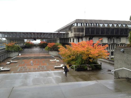 Looking toward Convocation Mall, at SFU, home of Simon Hotel