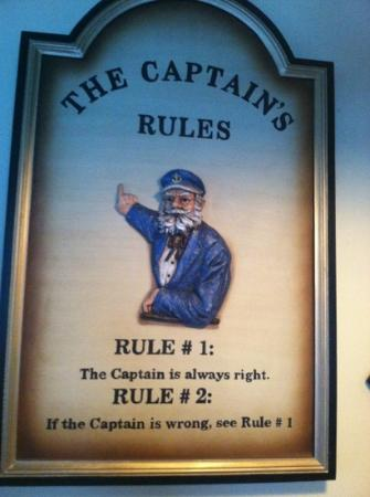 Captain's Table: Rule #1