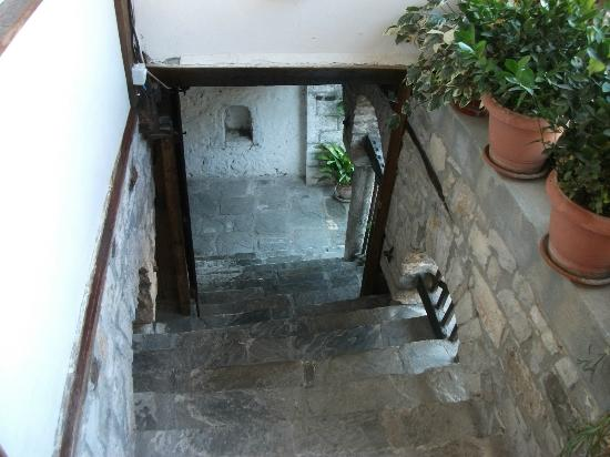 Lorenc Guesthouse & Hostel Gorica: Out of the door and down the steps