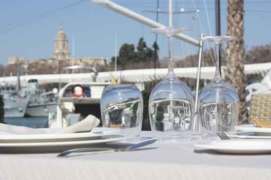 Marisquería Godoy: Vistas a la catedral y el centro de Málaga