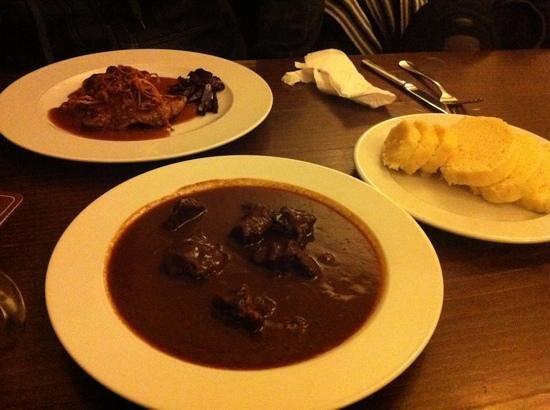 Ambiente Lokal : goulash, pork and side dish- Yummy!!