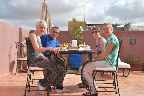 Riad Shaloma: ontbijt op dak terras
