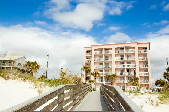 Holiday Inn Express Orange Beach View Of Hotel From