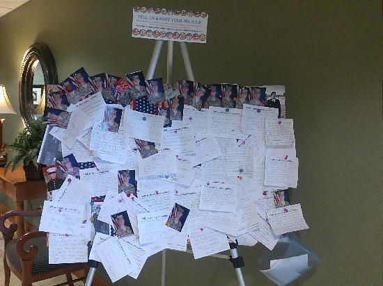 Hampton Inn & Suites Lawton: Tell us about your soldier board thank you for your service and sacrifices