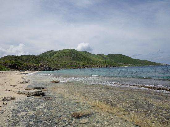 Pinel Island: Secluded beach/conservation area of Pinel