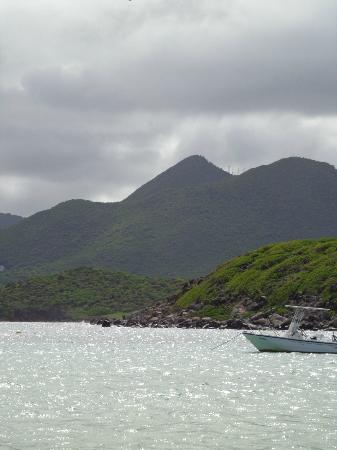 Pinel Island: mountains on mainland from Pinel