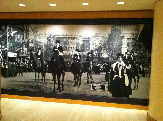 JW Marriott Washington, DC: Women's Suffrage art in lobby