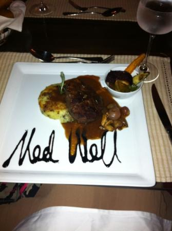 Semondu : steak med well done