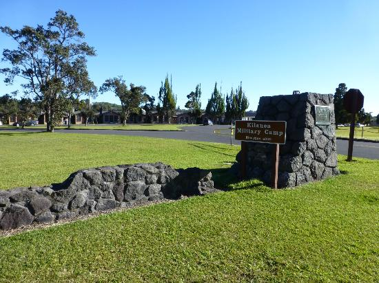 Entrance to Kilauea Volcano Military Camp
