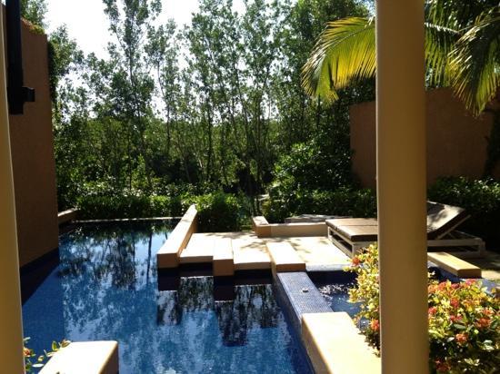 Banyan Tree Mayakoba: spa villa has a bigger pool compared with garden or even courtyard
