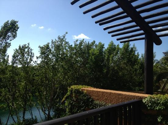 Banyan Tree Mayakoba: terrace view of spa pool villa