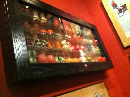 Zingerman's Roadhouse: collection of salt shakers