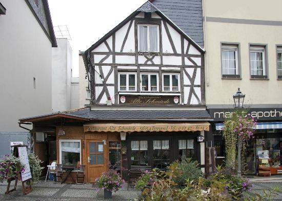 Outside of Alte Schmiede in October