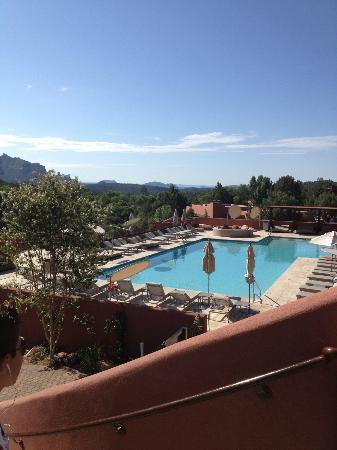Enchantment Resort: pool from main lobby