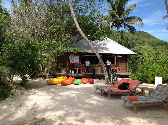 Kempinski Seychelles Resort : Kayak/canoe and snorkling equipment