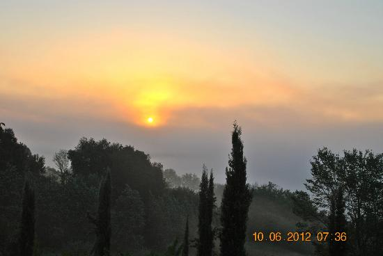Torraccia di Chiusi: sunset view from room