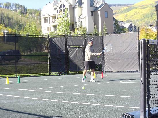 Beaver Creek Tennis Center: Reese Babcock during ladies skills clinic
