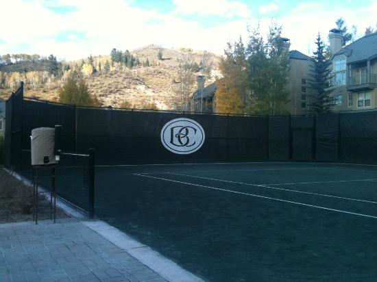 Beaver Creek Tennis Center: View up the mountain