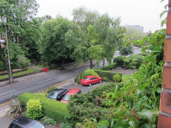 Ariel House: View of leafy Lansdowne Road from our room