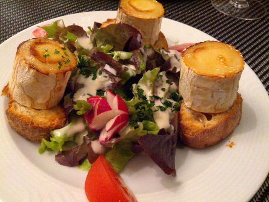 Argentoratum: Chevre chaud sur toast, salade