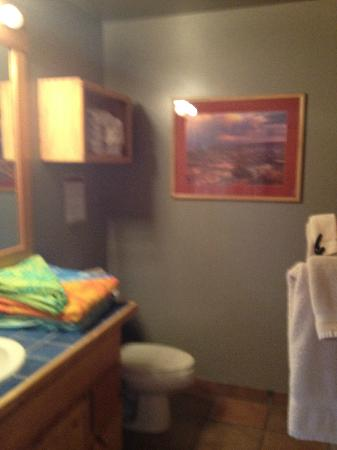 Red Cliffs Lodge: Jack & Jill bathroom in 2 bedroom cabin