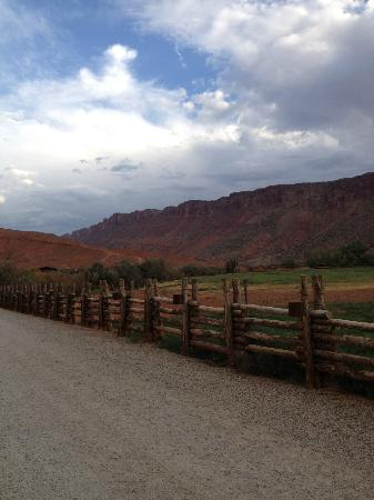 Red Cliffs Lodge: view of canyon wall