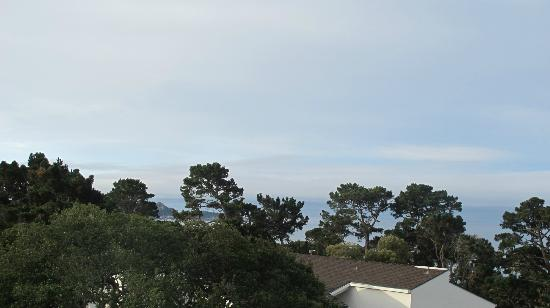 Tally Ho Inn: View From Room - Pebble Beach Gold Course in Background