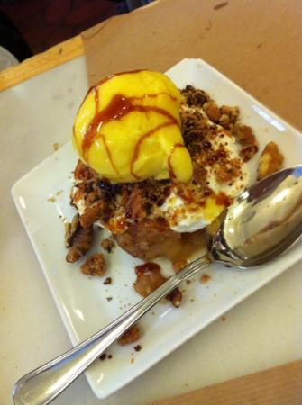 Restaurante Albur : postre de manzana