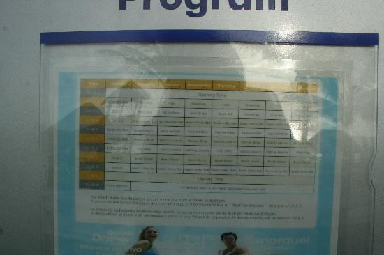 ‪‪Azul Beach Hotel‬: Program of the activities for adults