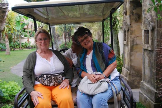 Pertiwi Resort & Spa: Riding the cart to our room