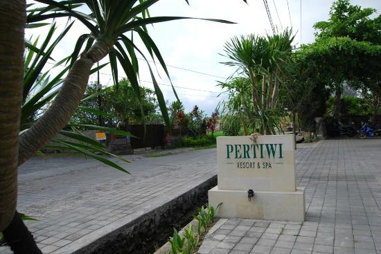 Pertiwi Resort & Spa: Rear Lobby Signage