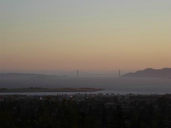 Indian Rock Park: view of the Golden Gate bridge from Berkeley