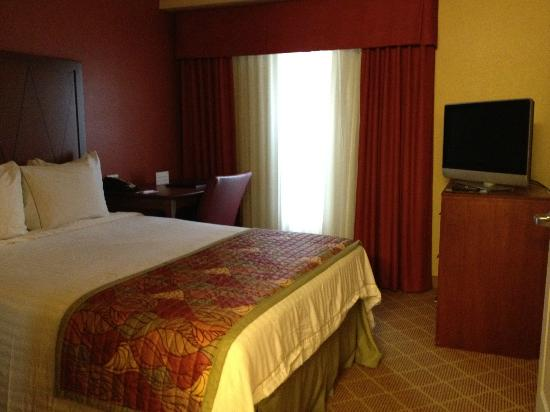 Residence Inn Baton Rouge Towne Center at Cedar Lodge: Queen bed with flat screen, radio/clock & phone