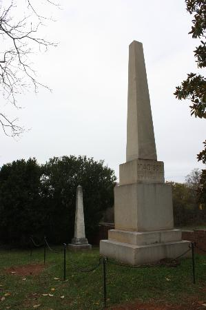 James Madison's Montpelier: Tombstones of James and Dolley Madison