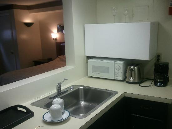 Beverly Garden Suites: Kitchen in the room