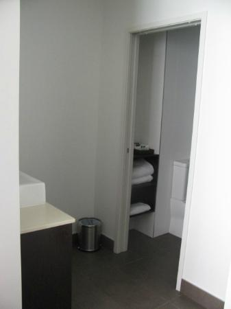 Rydges Auckland: Sink outside toilet and shower area