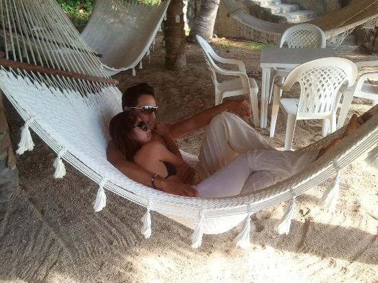 Villas Fa Sol: Relaxing on the Beach in your own Private hammock...