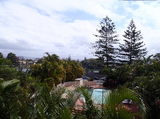 Palazzo Colonnades: View from the balcony towards Gold Coast Hwy Nerang River