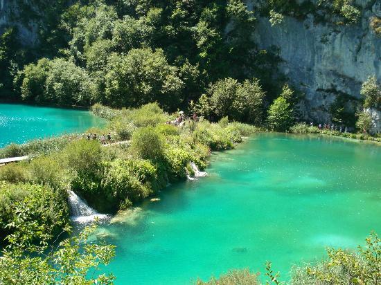 Plitvice Lakes National Park, Kroatien: Sempre muita gente