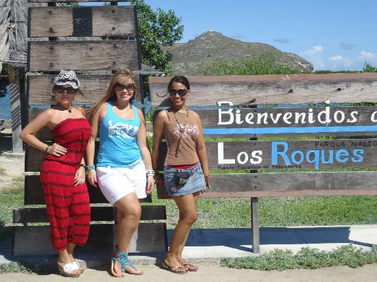 posada lagunita: Nosotras llegando a Los Roques