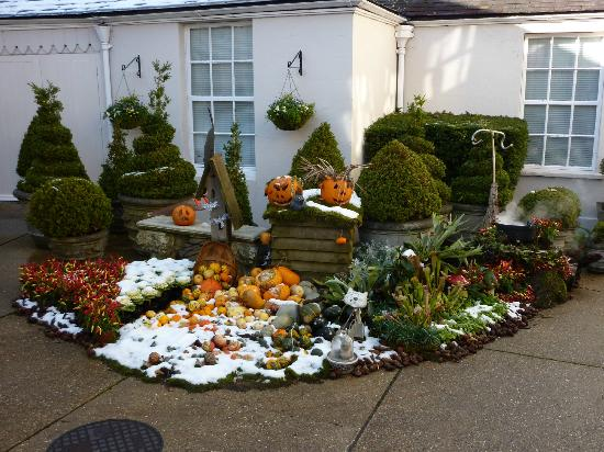 Summer Lodge: Halloween display