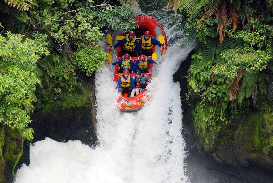River Rats Raft & Kayak: Tutea Falls Kaituna River. The world's highest commercially rafted waterfall