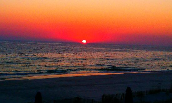 Whispering Seas : Sunset from the balcony