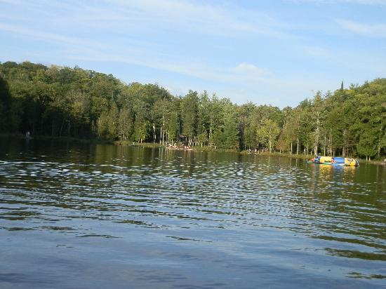Blueberry Lake Resort : Looking out at the lake from the dock
