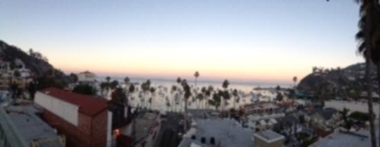 Sunset rooftop view at the Avalon hotel