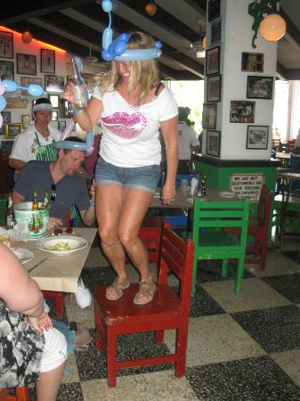 "Allegro Cozumel: Having fun at one of the local Restauant"" Carlos & Charlies"