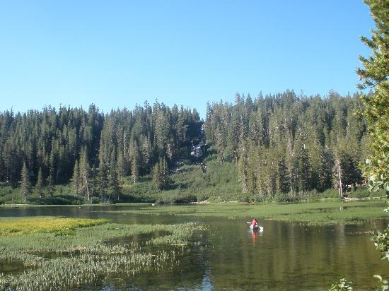 View of lake picture of twin lakes campground mammoth for Twin lakes fishing report