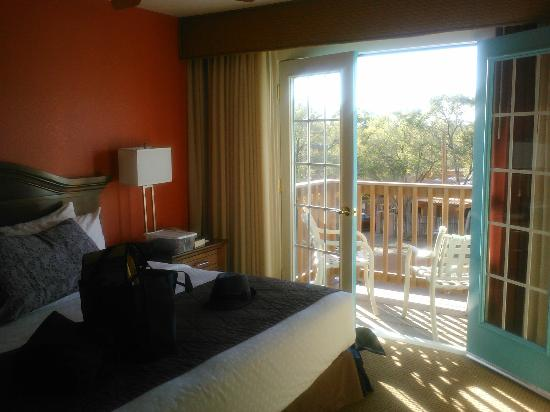 Villas de Santa Fe: Bedroom balcony view