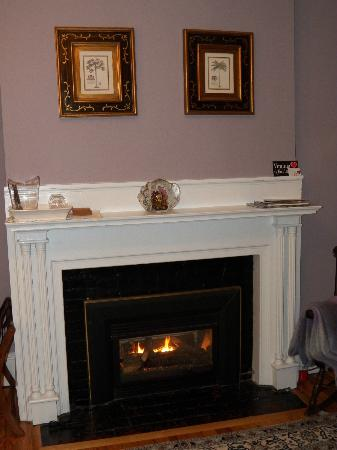 Fig Street Inn: Fireplace in Narragansett Room