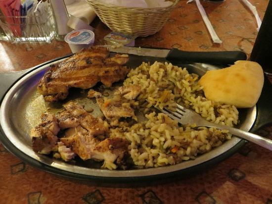 Sahara Steak House: Chicken Teriyaki and rice